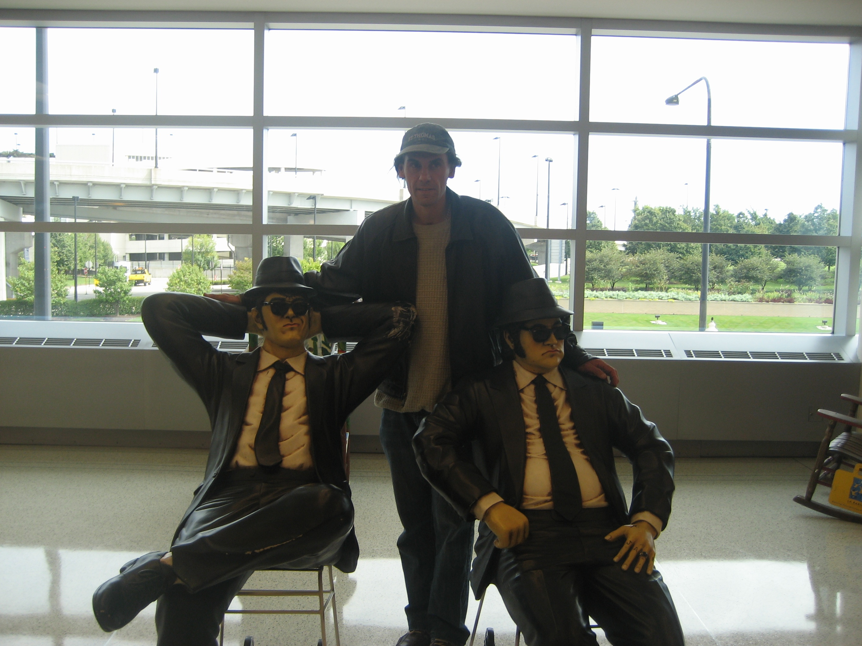 Darrin Andrew  La Morte visits Jake Blues and  Elwood at Chicago Midway Airport